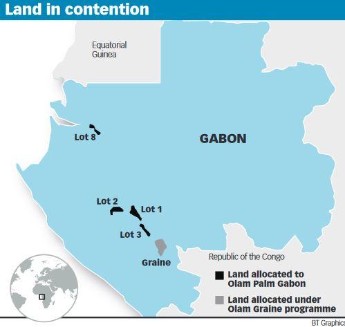 Olam land in Gabon