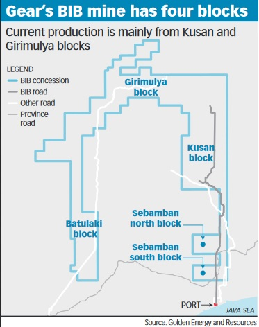Gear's BIB mine has four blocks