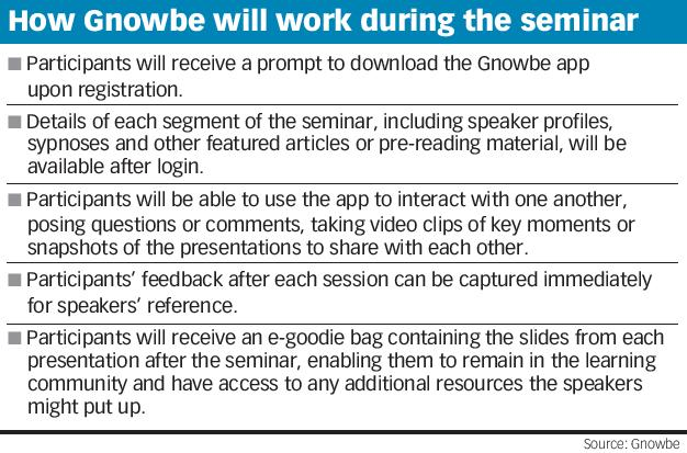 How Gnowbe will work during the seminar
