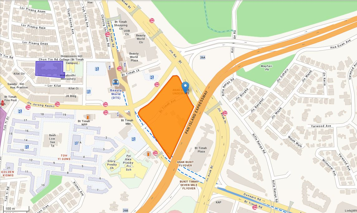 The single commercial and residential site on the confirmed list for H1 2020 GLS is located at Jalan Anak Bukit.