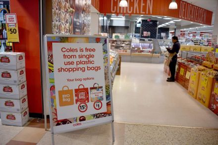 Two of Australia's supermarkets restricted plastic bags seriously