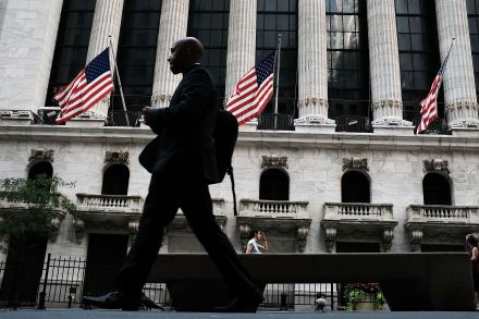 US Wall St opens lower on Apple concerns, trade uncertainties