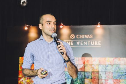 Ashwin from Gone Adventurin introducing the social enterprises in attendance at Chivas The Venture.jpg