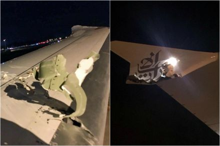 Emirates plane collides with another aircraft in Singapore
