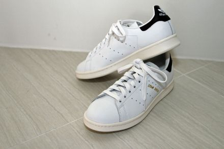 The shoe is the Stan Smith, a white-leather number with pale green accents  introduced in 1971, the year before Stan Smith (the player, now 70) earned  his ...