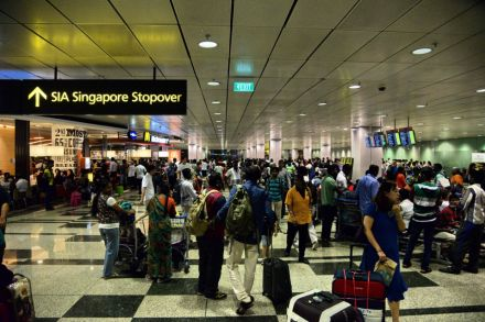 Singapore douses airport fire, warns of flight delays