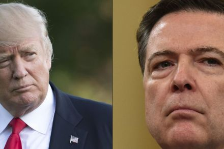 Trump wishes Comey 'luck'; tensions with Sessions