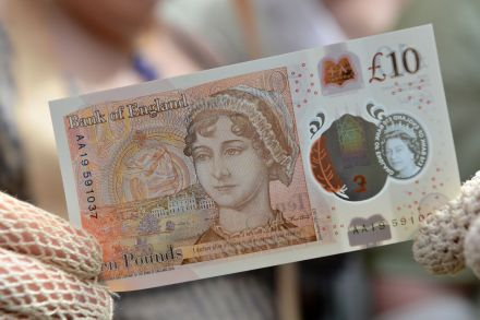 Jane Austen featured on new British 10-pound note