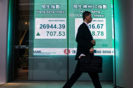 Hong Kong, Shanghai edge down after Wall St record
