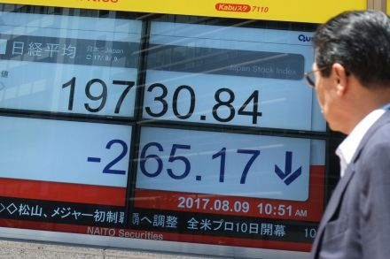 Jittery stock markets fall amid global tension over North Korea