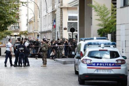 Image result for Car rams into soldiers in Paris suburb in suspected terrorist attack
