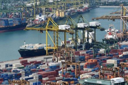 Singapore Exports Surge Helped by Low Base