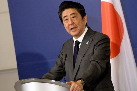 Abe, Latvian PM discuss North Korea