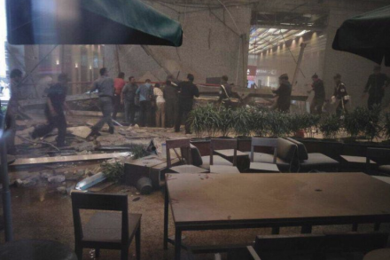 Balcony at Indonesia Stock Exchange building collapses; people trapped