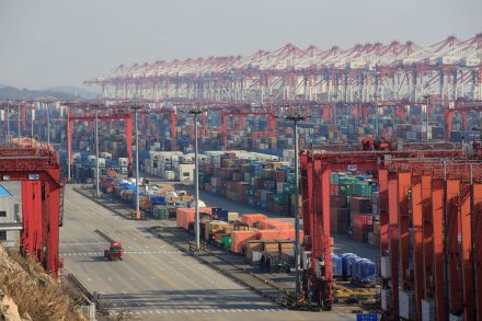 China's trade surplus with U.S.  rises