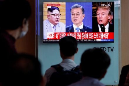 Trump says USA team in NKorea to plan summit