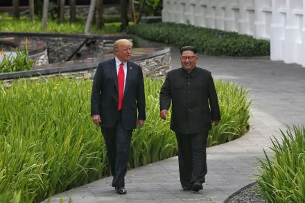North Korean state TV airs 1st video of Trump-Kim summit