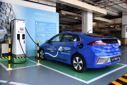 Photo 3 - The electric Ioniq taxi - the first of its kind here - charges fully in just under 30 minutes.jpg