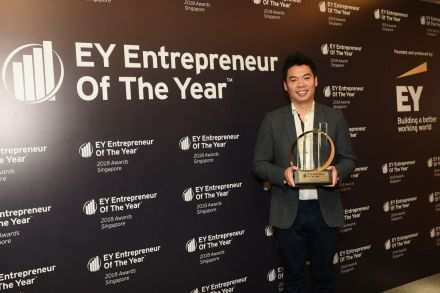 Jeffrey Tiong, CEO of PatSnap, was named EY Entrepreneur Of The Year 2018 Singapore on Oct 26, 2018.