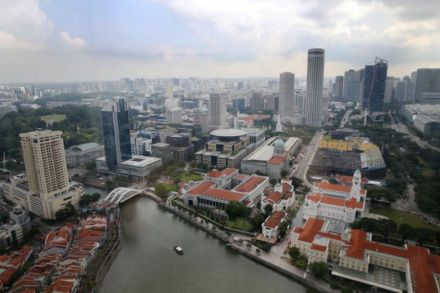 Singapore cuts full-year GDP growth forecast to 0-1%