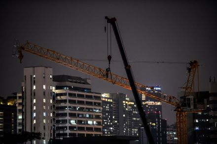 A construction crane in Bangkok. The Thai capital is set to see a large volume of office supply.