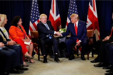 UK's Johnson says he met Trump, avoids answering why no photo together