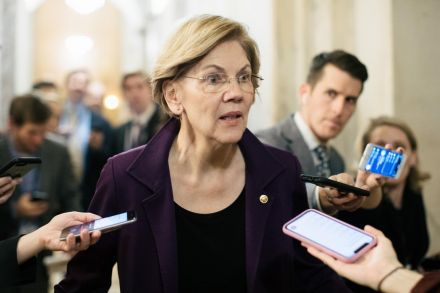 Elizabeth Warren calls for heavy penalties for spreading wrong information online