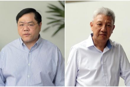 Clarence Chang Peng Hong (left) had accepted bribes from businessman Koh Seng Lee - ST PHOTO WONG KWAI CHOW.jpg