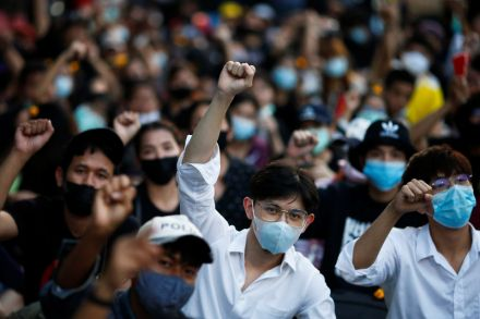 Thai protesters push on despite charges of royal defamation
