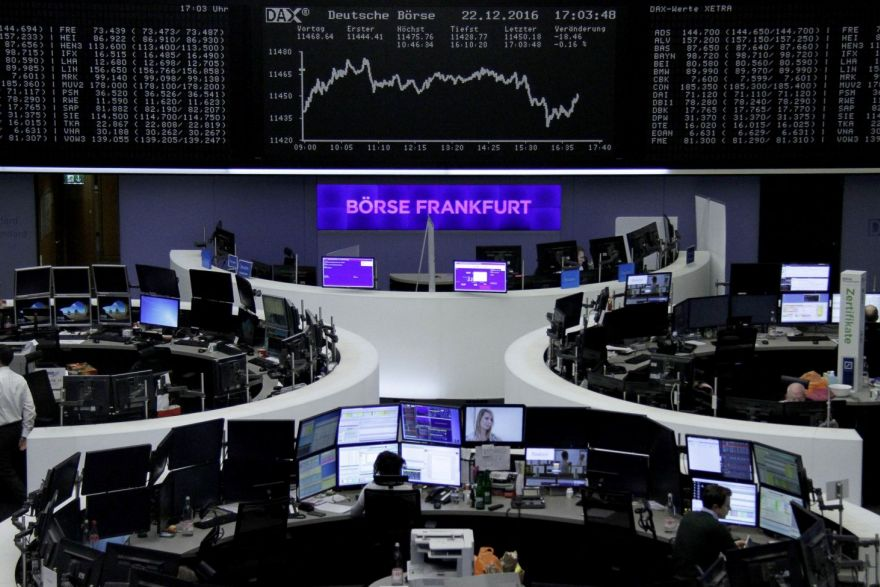Europe: Shares post small loss for 2016, Britain's FTSE hits record high, Stocks