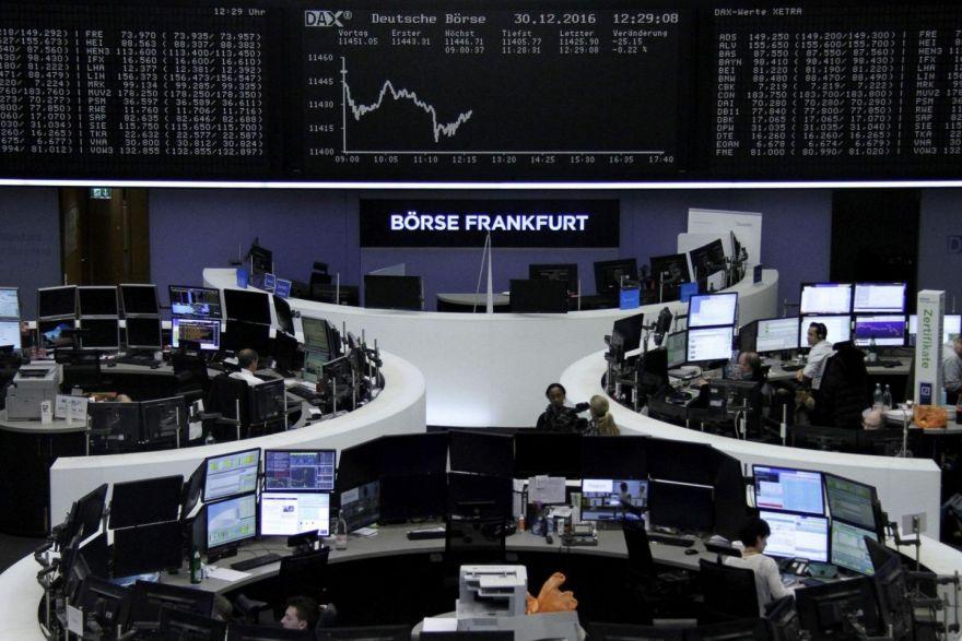 Europe: Shares slip as bank losses offset tech gains; FTSE hits new high, Stocks