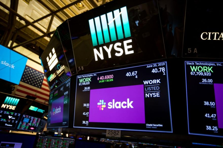 What time is slack ipo