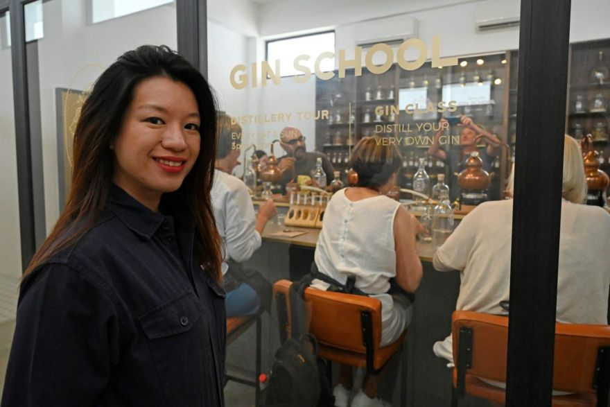 High spirits at Singapore's school for gin