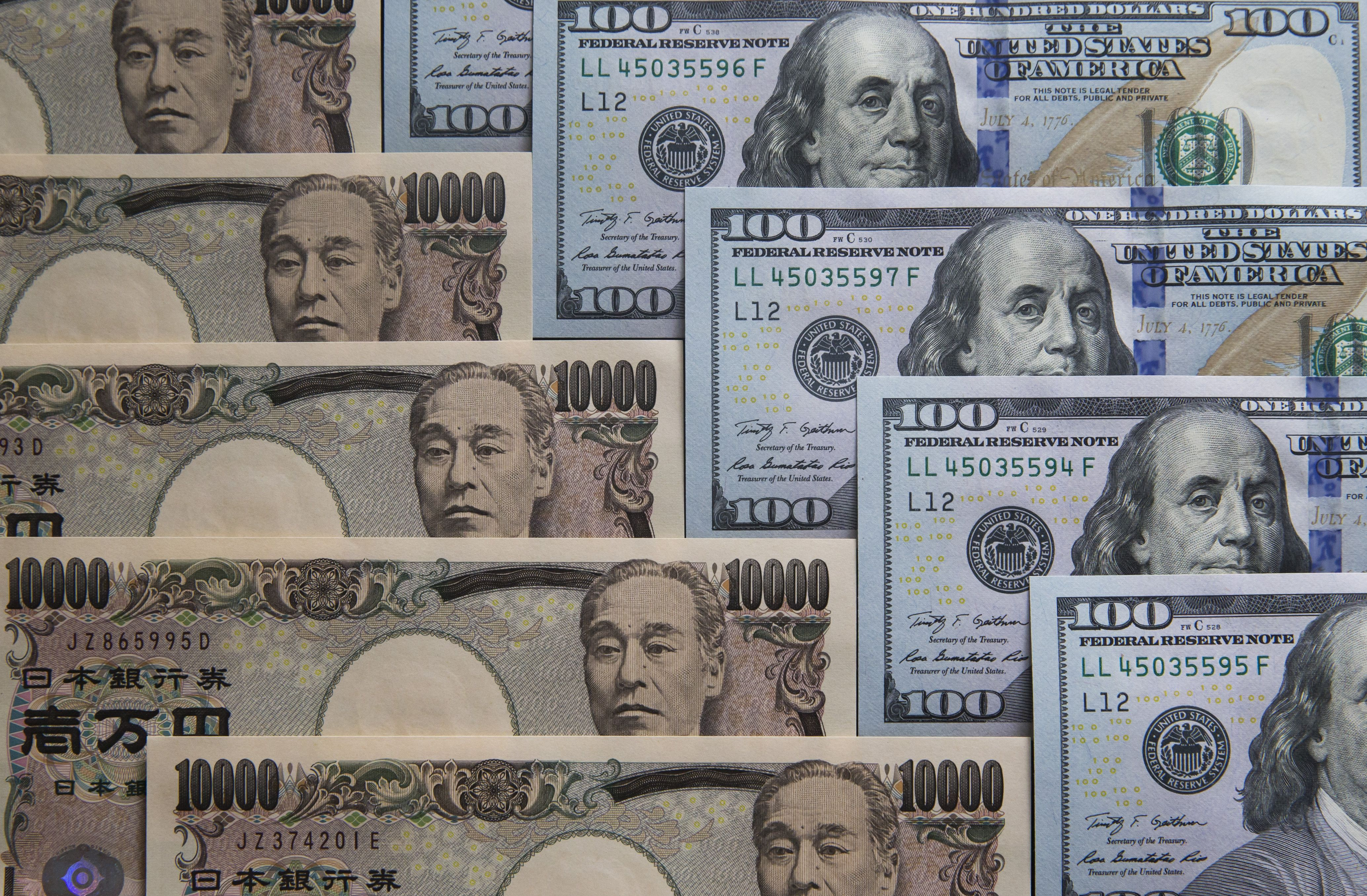 Image result for images of Japanese yen and U.S dollar