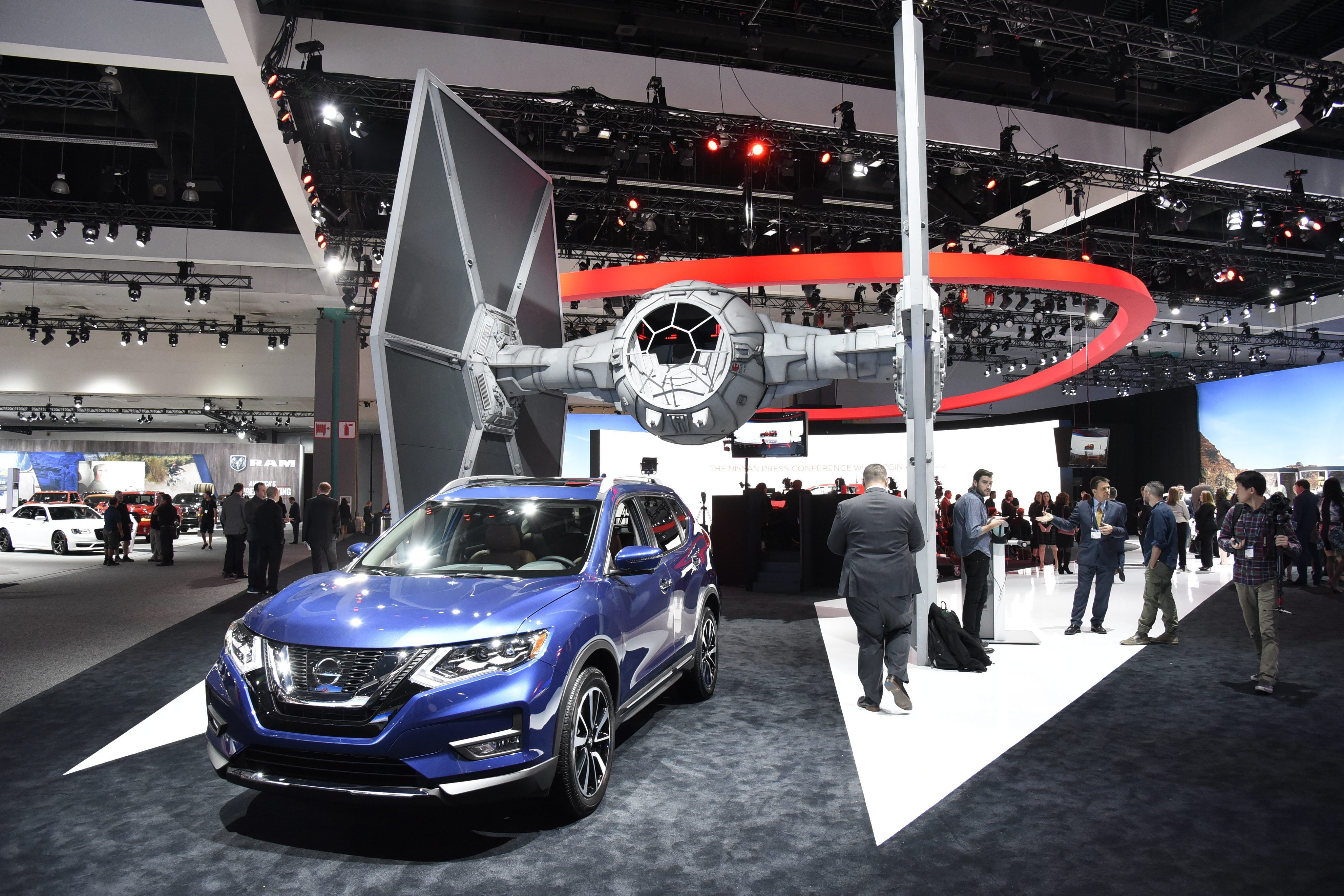 A Touch Of Star Wars Swarm Of SUVs At LA Auto Show Transport THE - Car show usa