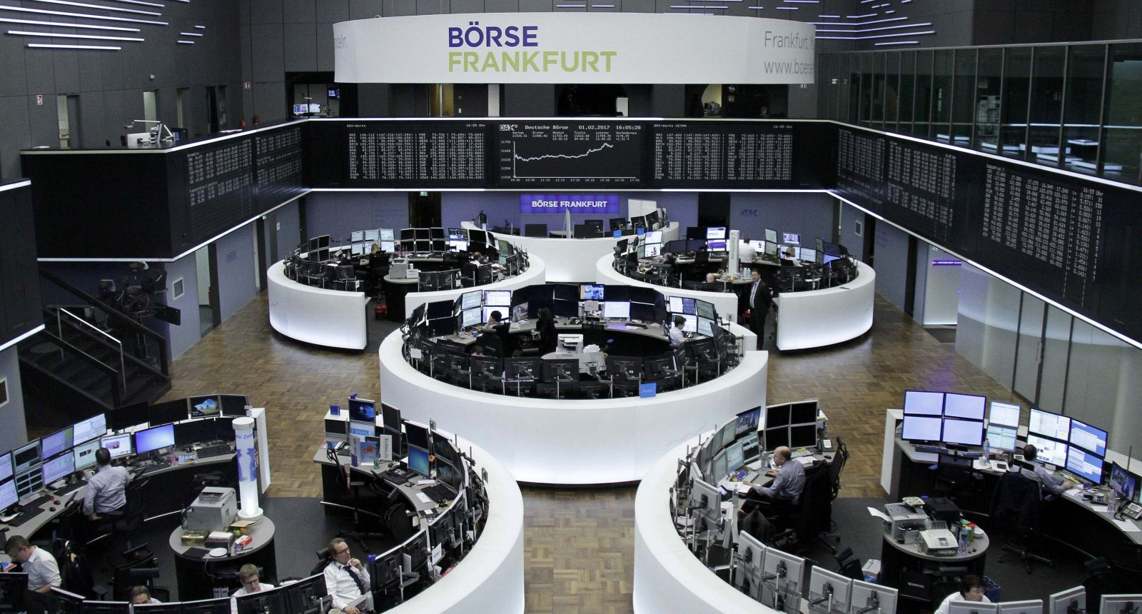 Europe: Shares climb to 14-month high on positive surveys, HSBC