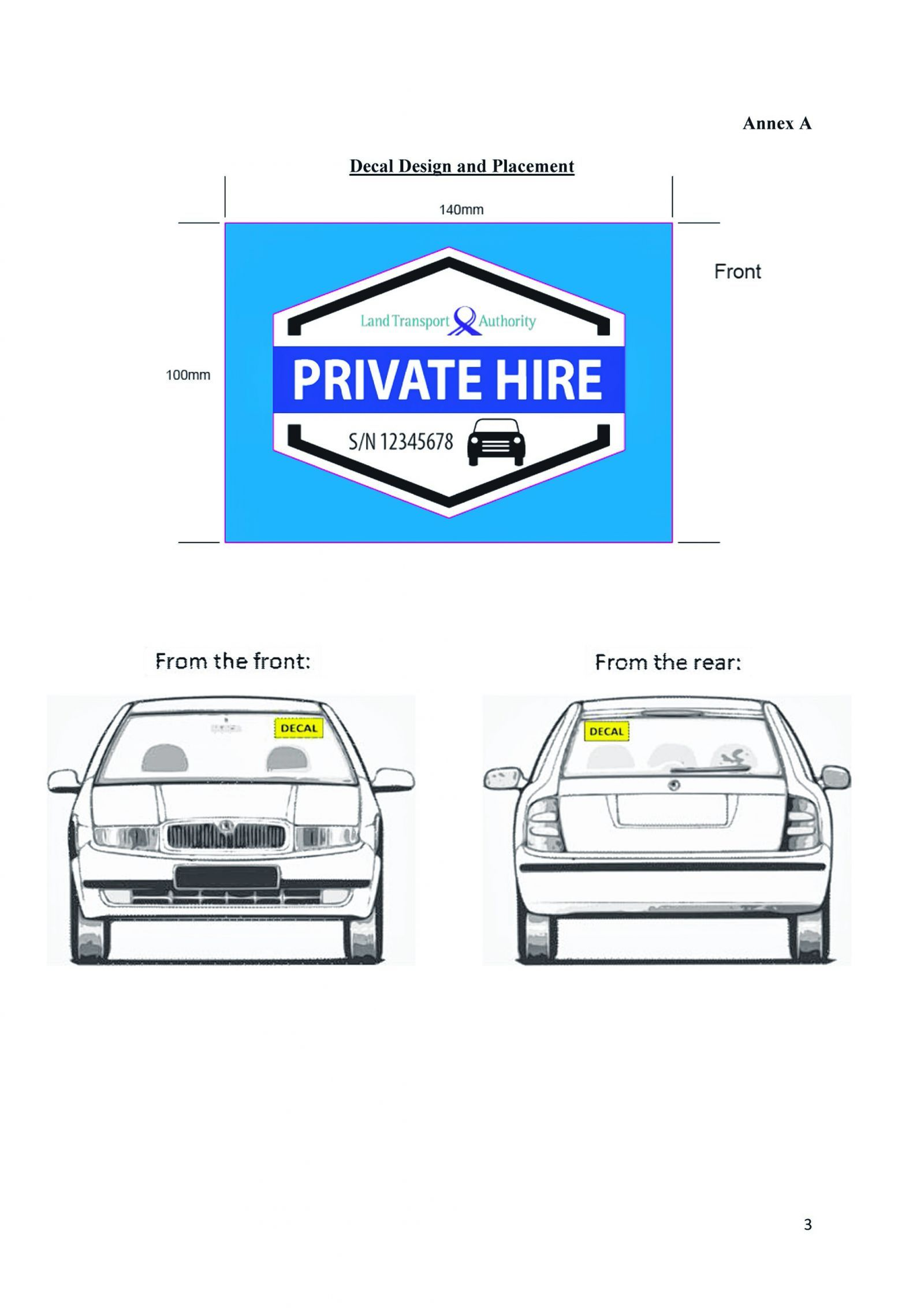 Car decal design singapore - Private Hire Cars Must Display Decals For Easier Identification From July 1