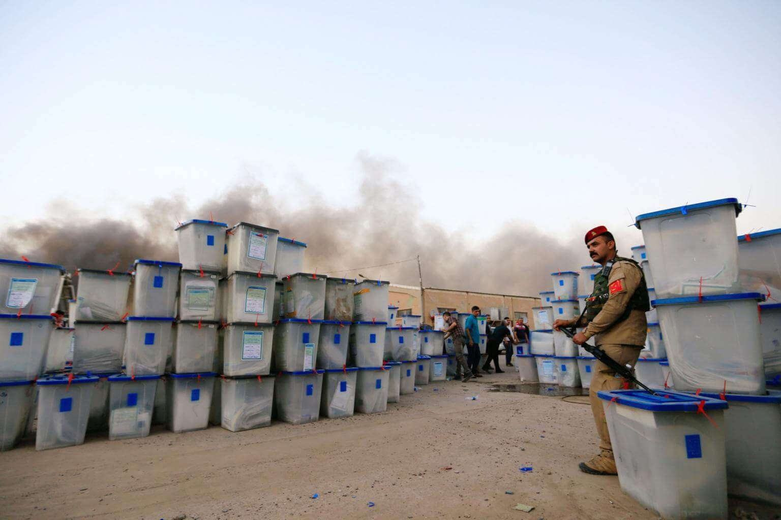 Fire hits Iraq's biggest ballot warehouse before recount