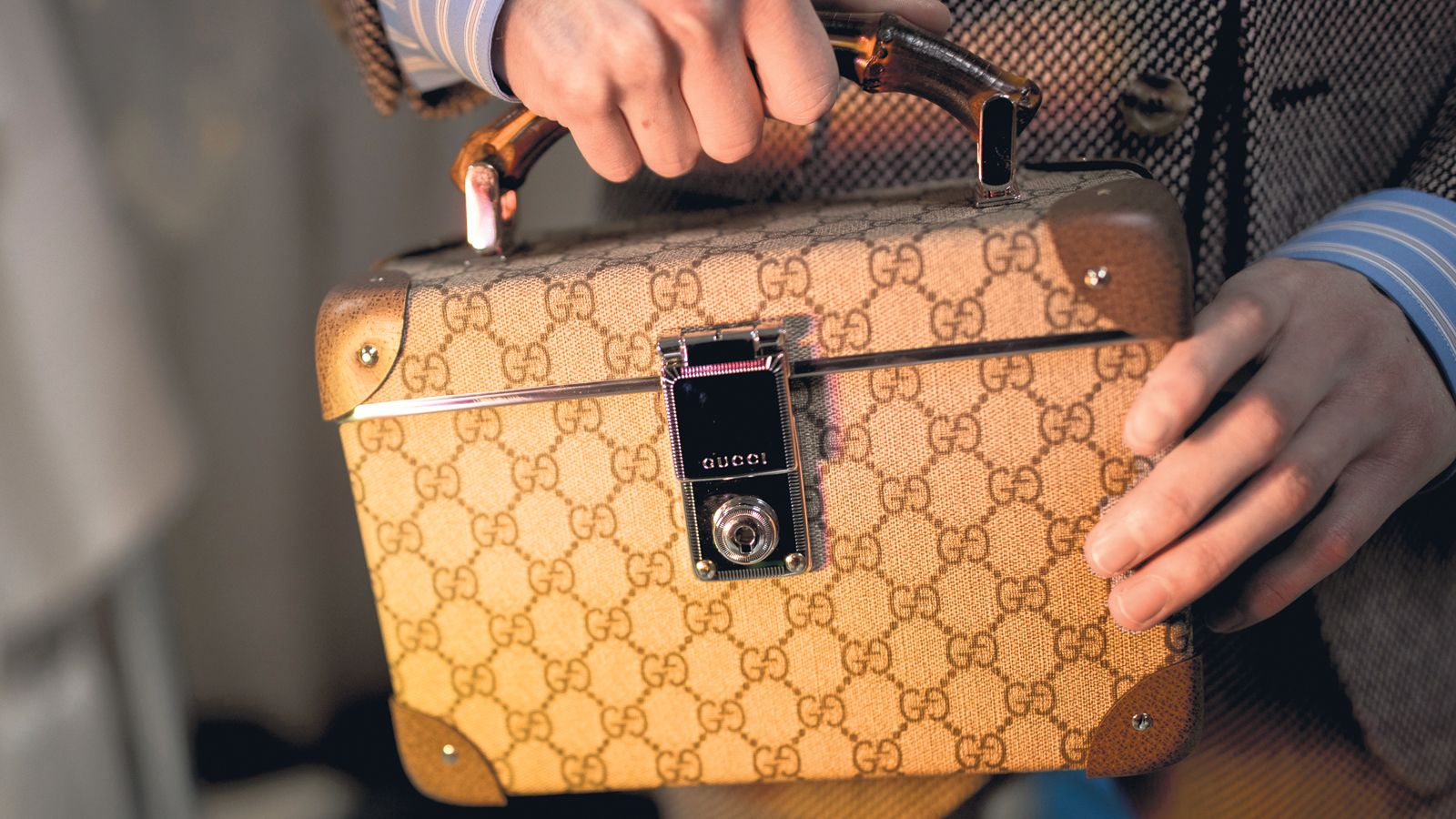 c509d1245c86 GG beauty box case from Gucci Fall/Winter 2018 show.