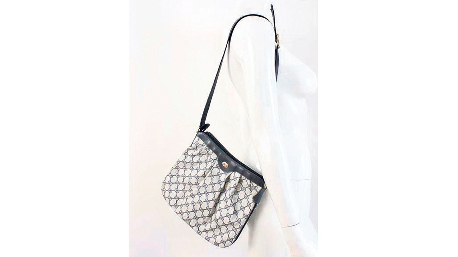 0c1e71158d Vintage 80s Gucci Monogram handbag, USD$500, from Rice and Beans Vintage.