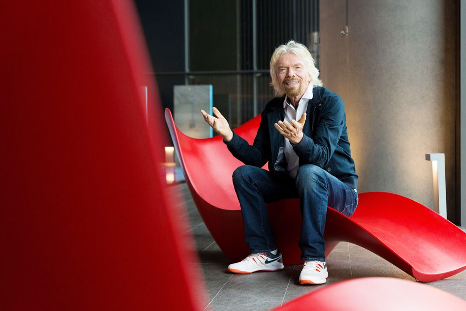 One small step for a man, and US$250,000 for Branson's Virgin group