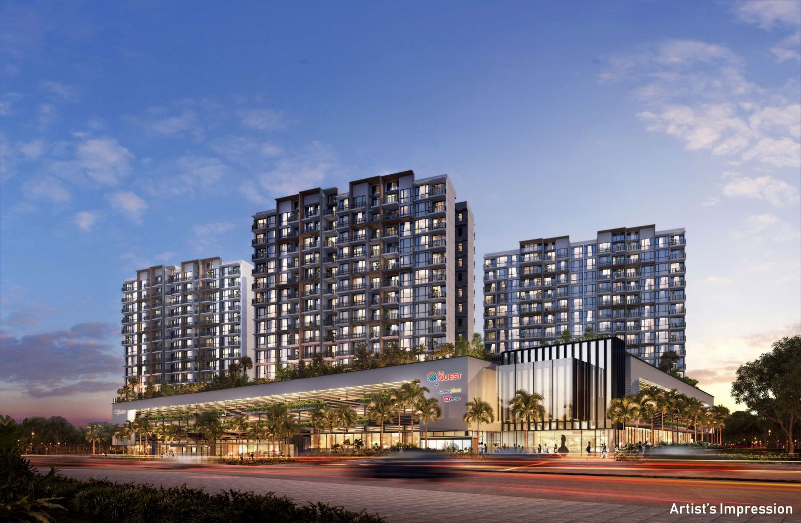 Qingjian Realty (South Pacific) Group Pte Ltd, Hub Projects - THE