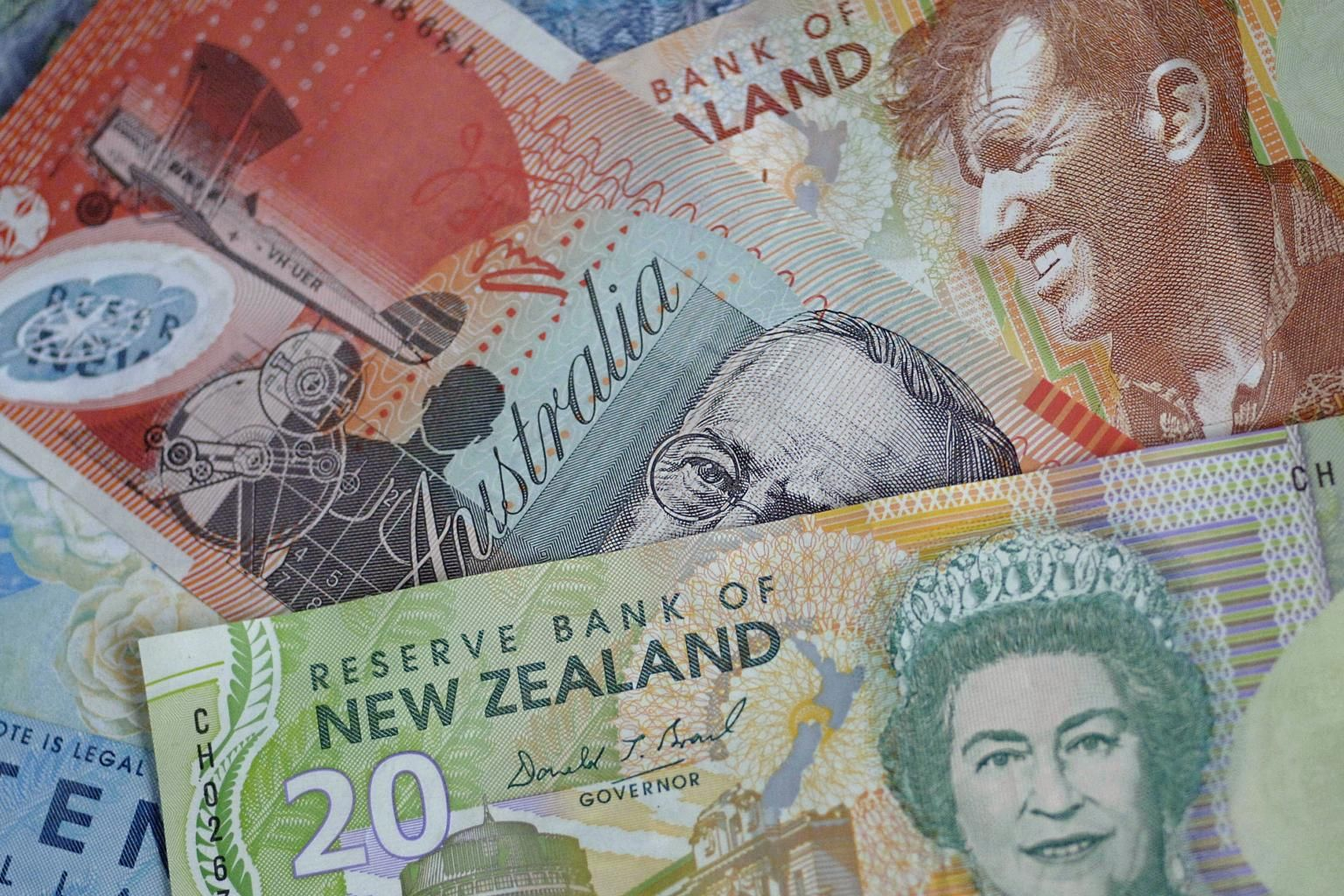 Australian New Zealand Dollars Drift