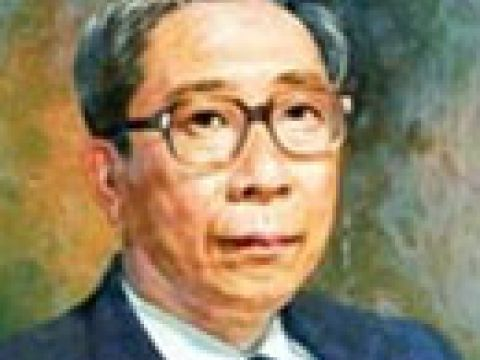 Oil portrait of Mr Lim Chin Beng, Businessman of the year 1986