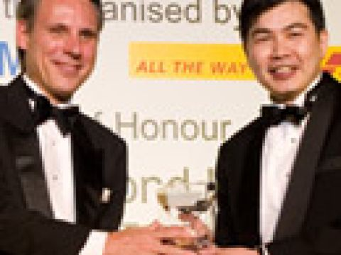 Outstanding CEO/Senior Executive (Overseas) Award 2006 winner Mr Lim Ming Yan (right), Chief Executive Officer CapitaLand China Holdings Group